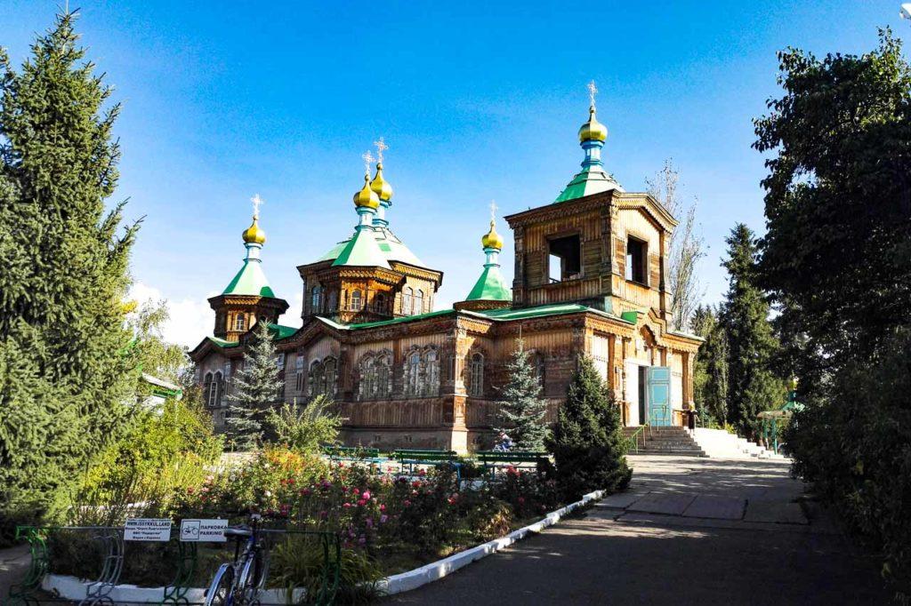 Holy Trinity orthodox cathedral in Karakol
