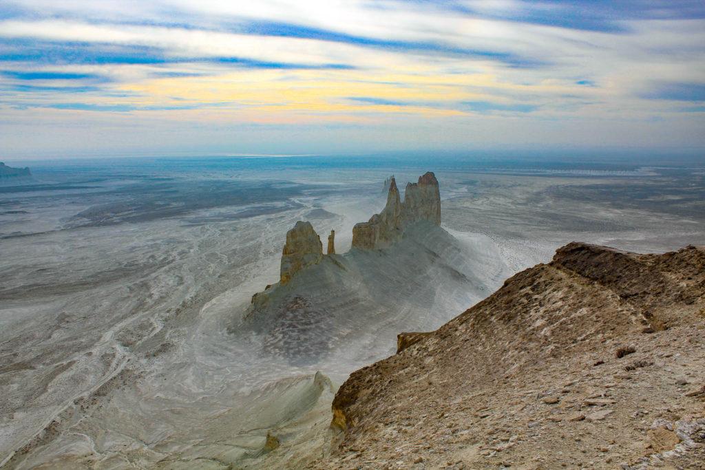 Shrekala mountain from above in Mangyshlak, Kazakhstan