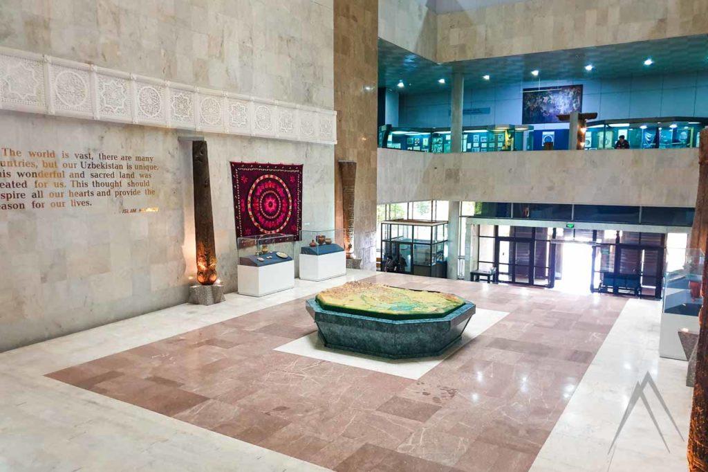 inside of tashkent history museum