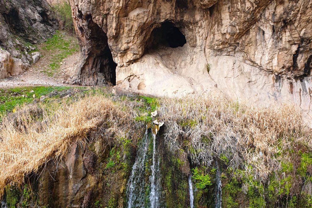 Caves near Dangi canyon in Kyrgyzstan