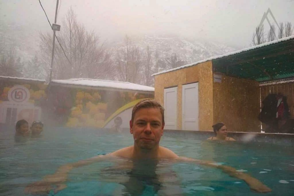 New outdoor pool of Issyk Ata gorge hot spring
