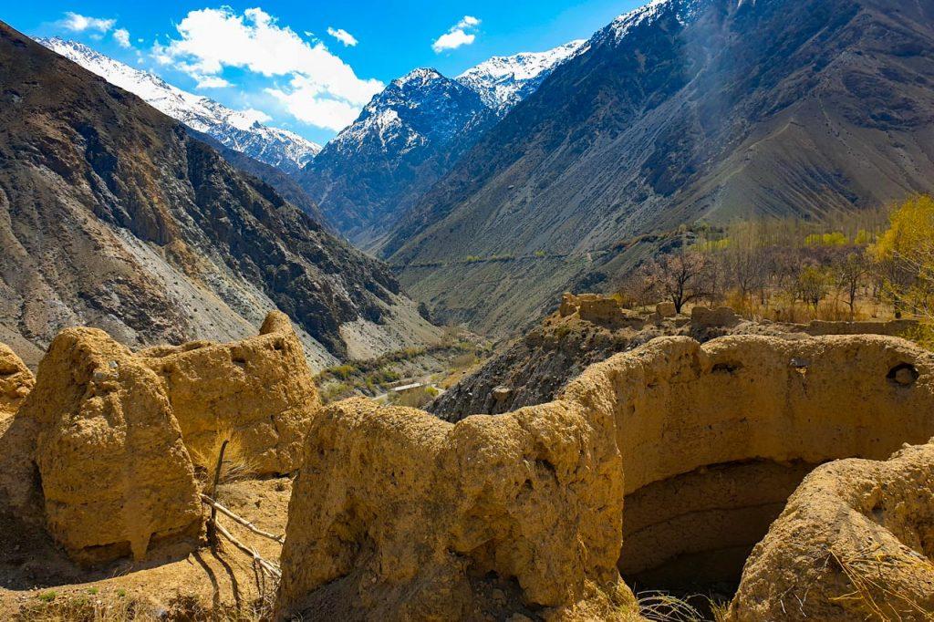 Medieval Khan fortress ruins in Batken, Kyrgyzstan