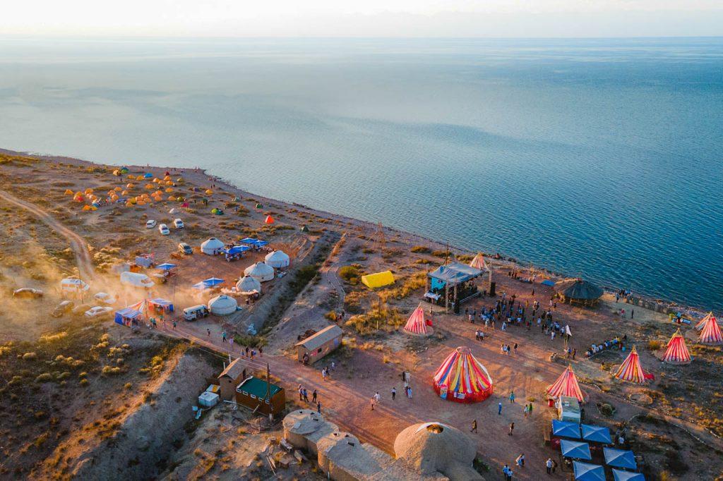 Kolfest at the south beach of Issyk Kul