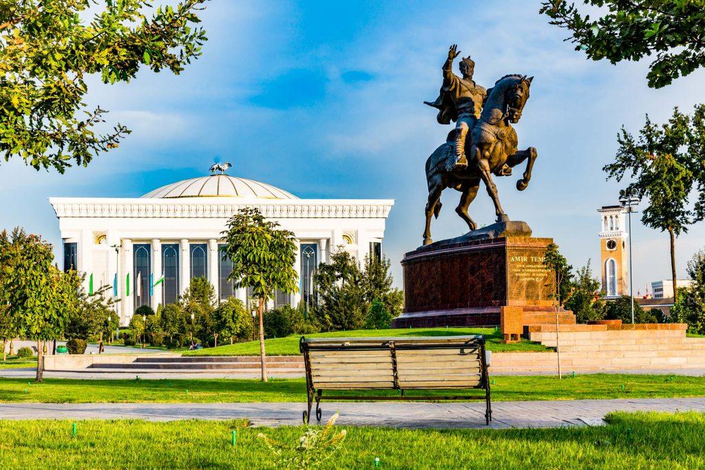 Statue of Amir Temur in the center of Tashkent