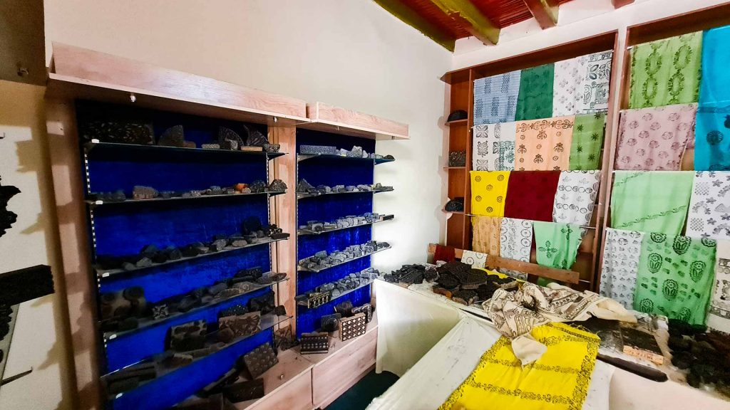 fabric workshop in the complex
