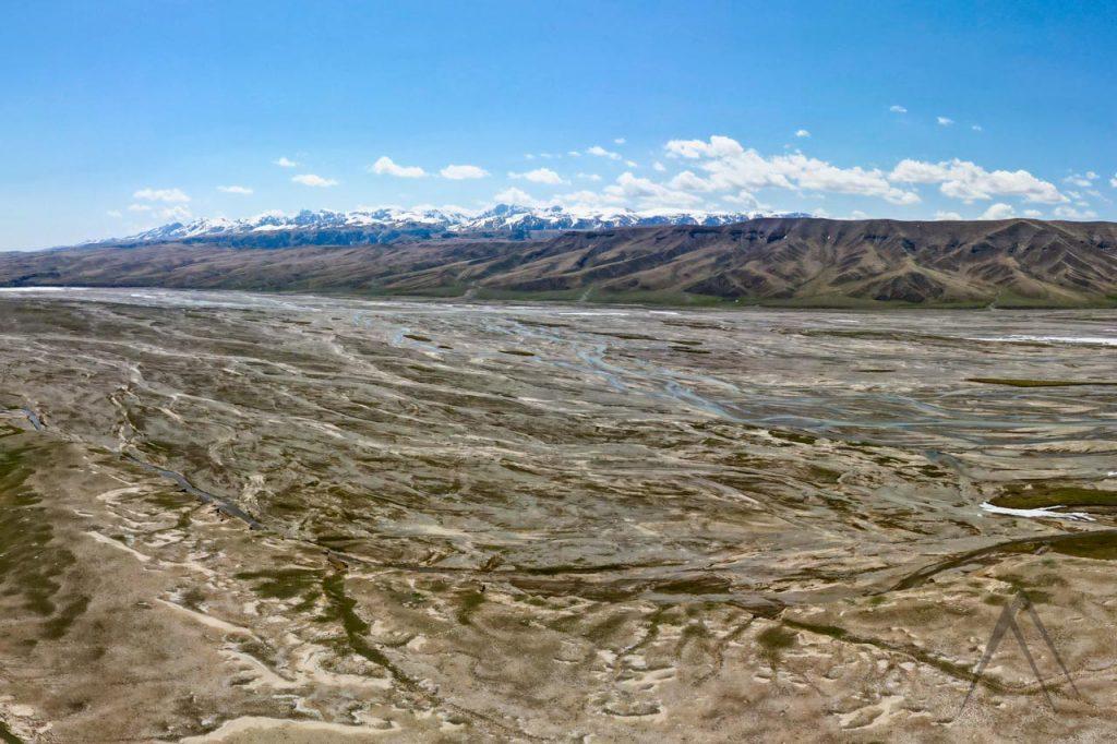 Ak Sai valley in the Kyrgyz border zone