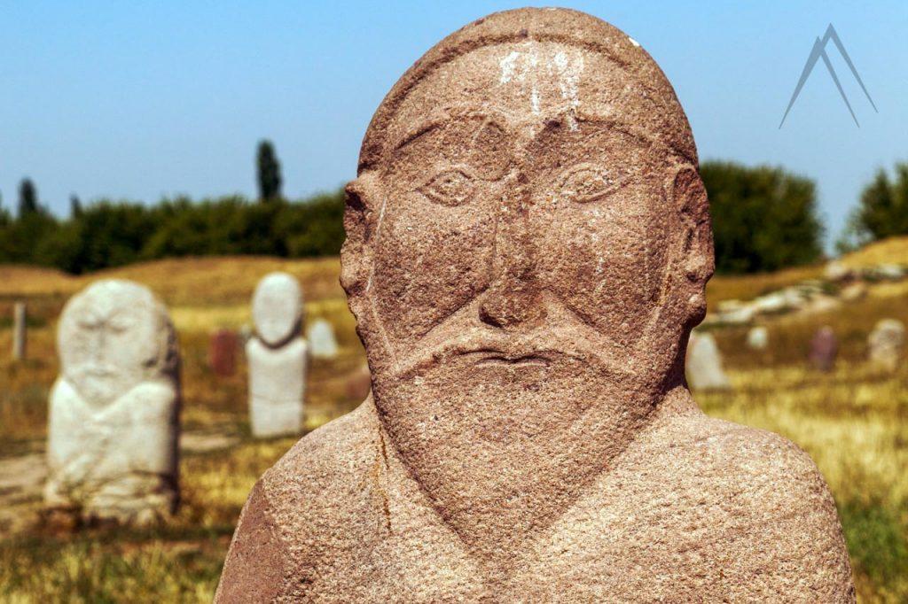 Balbal burial stone in Kyrgyzstan