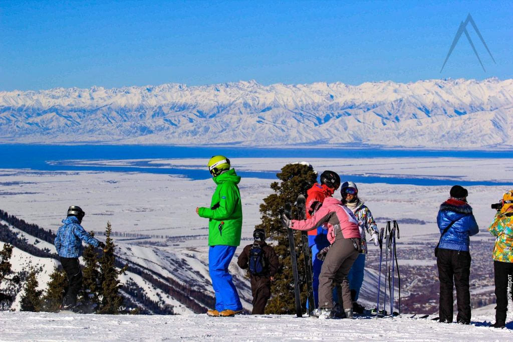 Karakol skiing center in Kyrgyzstan near Issyk Kul