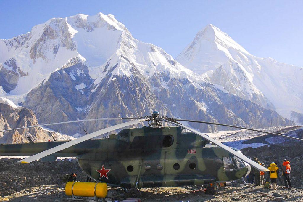 Khan Tengri helicopter ride